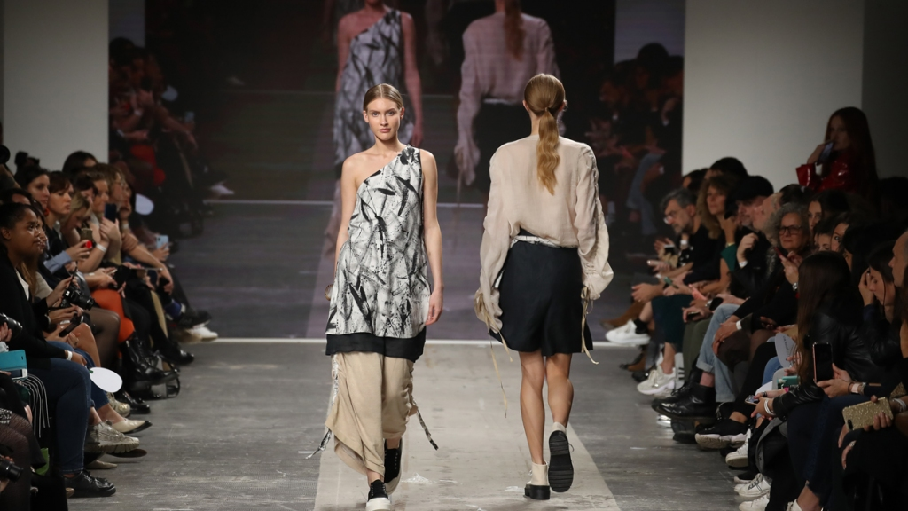 ISTITUTO SECOLI AND THE YOUNG FASHION DESIGNER MICOL RIZZI ON THE MICAM CATWALK