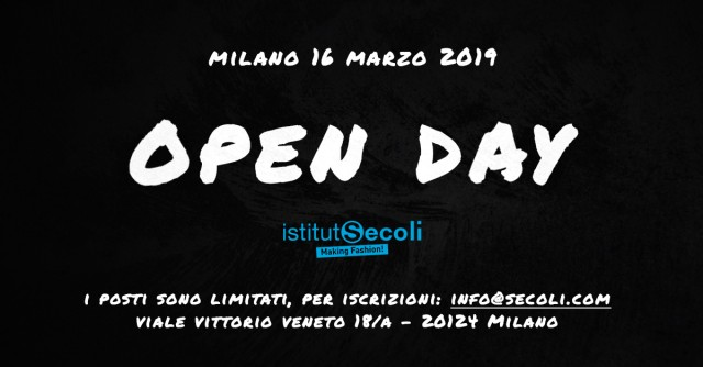 THE 16TH MARCH NEW OPEN DAY AT ISTITUTO SECOLI!