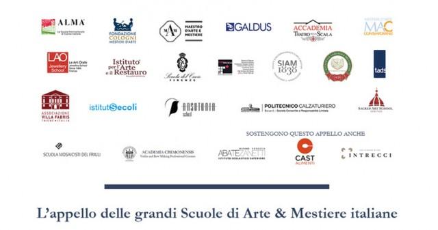 L'APPELLO DELLE GRANDI SCUOLE DI ARTE & MESTIERE ITALIANE