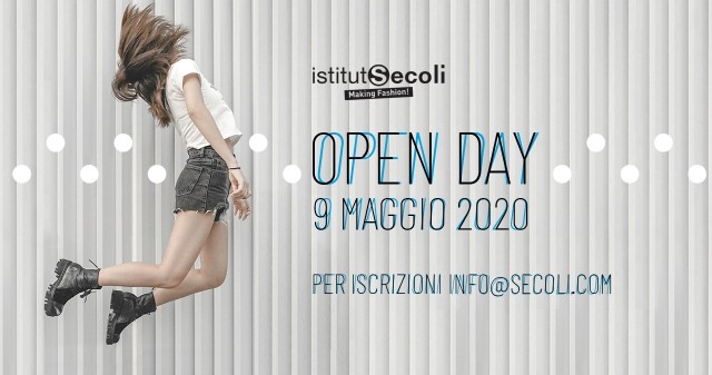 SAVE THE DATE: 9 MAGGIO OPEN DAY SECOLI