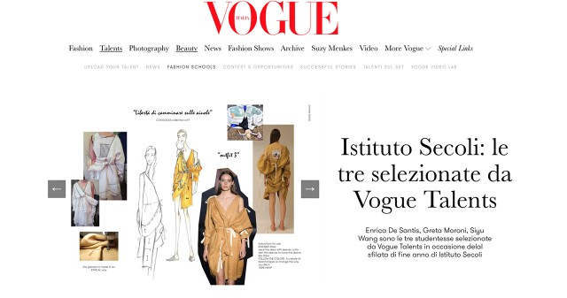 SECOLI FASHION SHOW 2018: SPECIAL MENTION BY VOGUE TALENTS