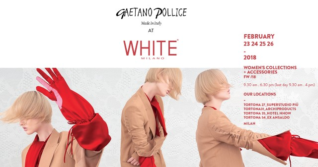 WHITE MILANO 2018: FROM MOLISE, THE BAGS SIGNED BY GAETANO POLLICE