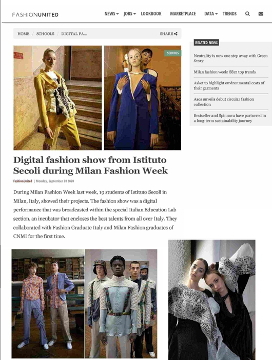 DIGITAL FASHION SHOW FROM ISTITUTO SECOLI