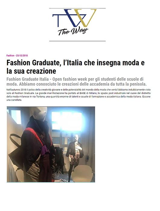 FASHION GRADUATE, L'ITALIA CHE INSEGNA MODA