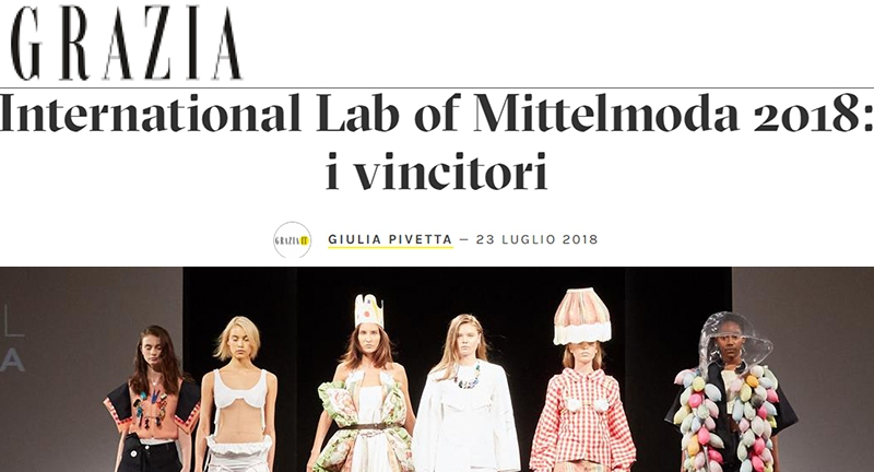 INTERNATIONAL LAB OF MITTELMODA 2018: I VINCITORI