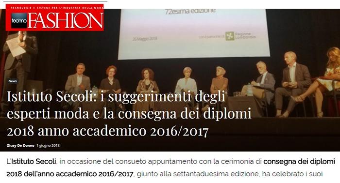 Istituto Secoli: suggerimenti degli esperti e consegna dei diplomi 2018