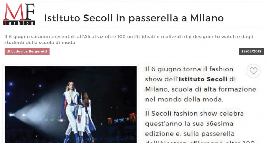 ISTITUTO SECOLI IN PASSERELLA A MILANO