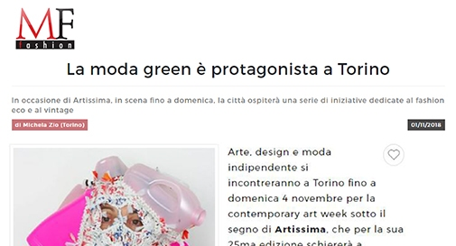 LA MODA GREEN E' PROTAGONISTA A TORINO