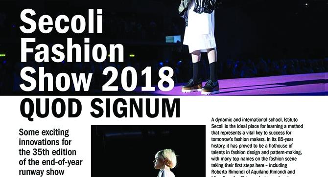 SECOLI FASHION SHOW 2018
