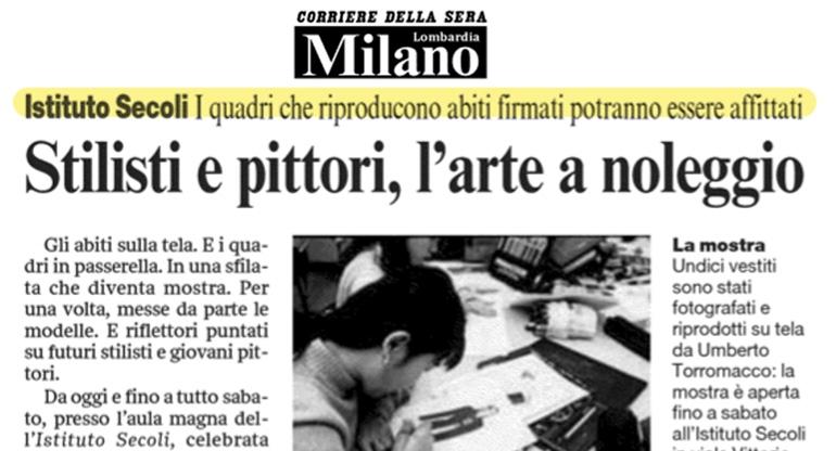 STILISTI E PITTORI, L'ARTE A NOLEGGIO