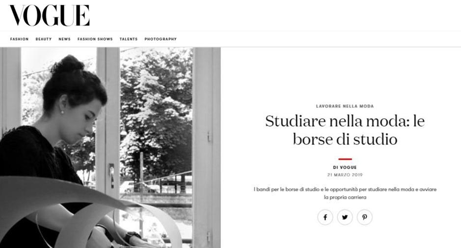 STUDIARE NELLA MODA: LE BORSE DI STUDIO