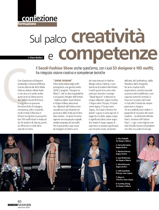 Sul palco creatività e competenze tecniche